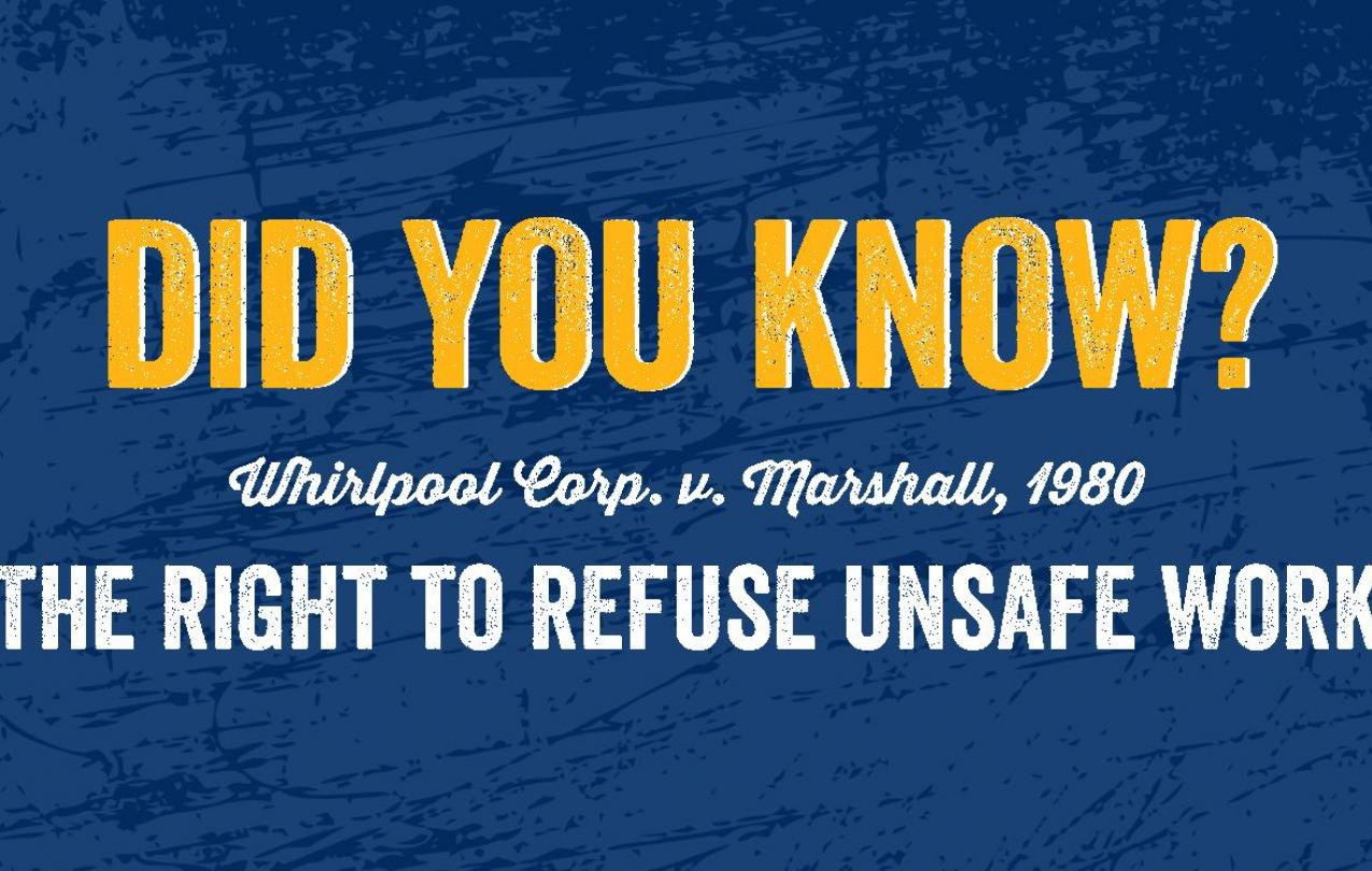 Did you know? Whirlpool Corp. v. Marshall