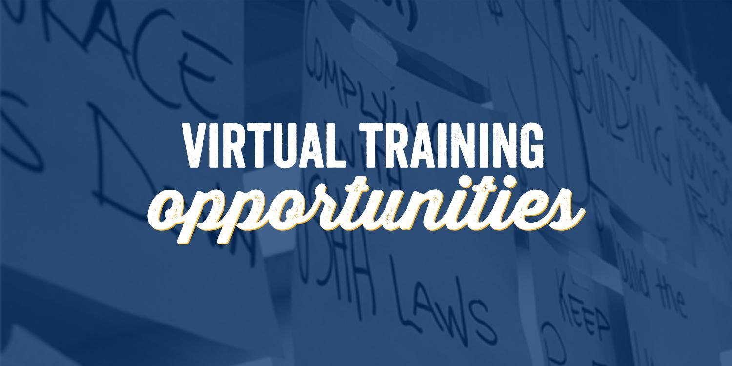 virtual training opportunities